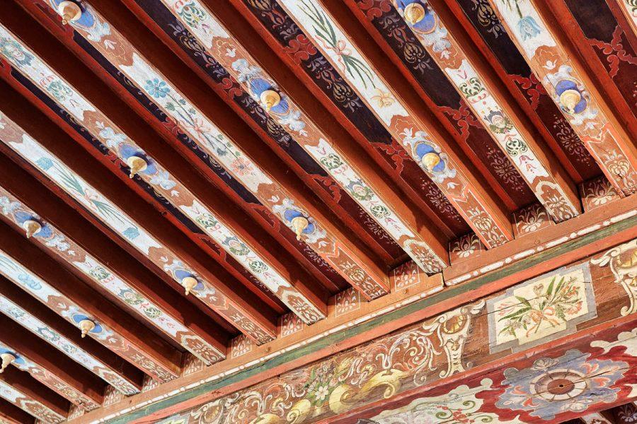 Chateau-des-Montgommery-de-Ducey–plafond-de-la-chambre-doree